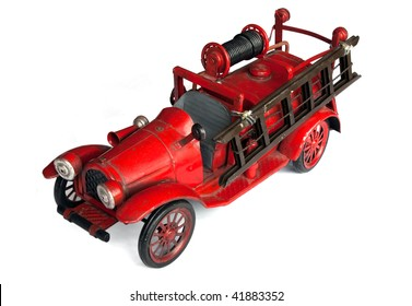 Antique Toy Fire Engine