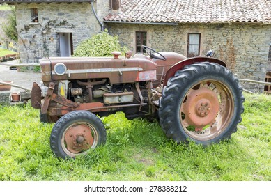 antique tractor for the field