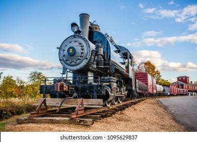 Antique train at Essex Train Station in Essex Connecticut