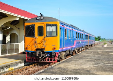 Antique train stoped on the train station. in Thanalaeng station,Hardxaiyfong district, Vientiane Capital, Laos, in 17Sep 2018.