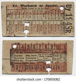 Antique Train Ticket