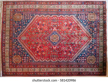 Antique tribal rug from southern Persia from the early twentieth century
