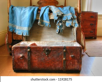 Antique Trunk and Linens