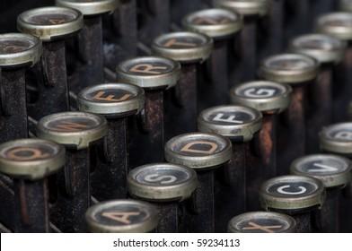 antique typewriter details