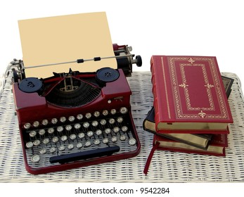 Antique typewriter with paper to add text.