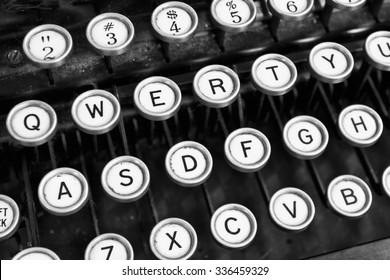 Antique Typewriter - An Antique Typewriter Showing Traditional QWERTY Keys XI