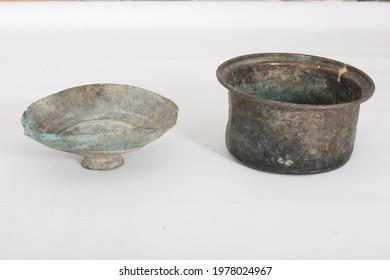 antique unique old  used bowl