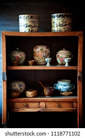 Antique Vessels in Ancient Chinese Closet