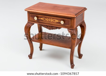 Antique Vintage Commode On White Background Stock Photo Edit Now