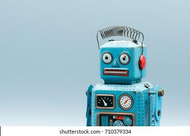 antique Vintage retro robot tin toy