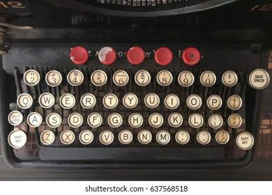 Antique vintage typewriter keys