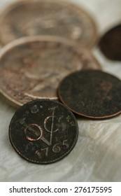 Antique VOC coin at Banda island,Indonesia