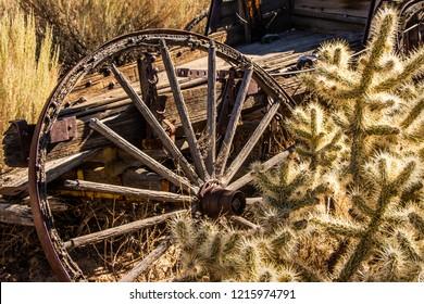 Antique wagon in the Mojave Dessert.