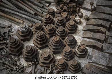 Antique weights /Texture