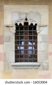 antique window with grille