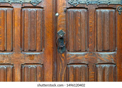 antique wood door medieval architecture entrance lock