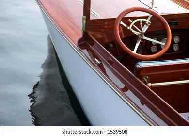 Antique wooden boat detail #3
