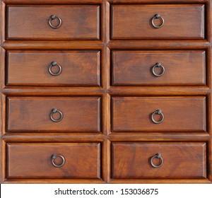Antique wooden box.