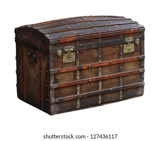 Antique trunk images stock photos vectors shutterstock antique wooden chest isolated with clipping path included gumiabroncs