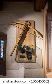 Antique wooden crossbow
