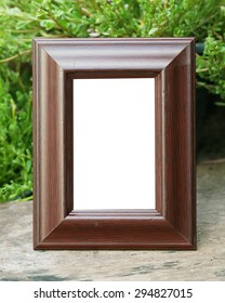Antique wooden frame with the wooden floor on Nature Backgrounds.