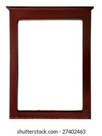 antique wooden rectangular picture frame