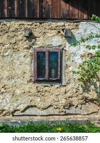 antique wooden window