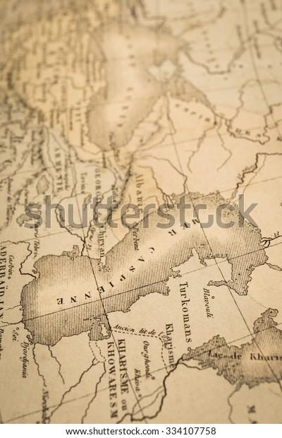 Antique World Map Caspian Sea Stock Photo (Edit Now) 334107758 on world map hawaiian islands, world map yellow sea, world map prime meridian, world map black sea, world map isis, world map canton, world map united states, world map tertia, world map indian ocean, world map middle east, world map egypt, world map athens, world map on fire, world map baltic, world map empire, world map michigan, world map tigris, world map southeast asia, world map aerial, world map alpha,