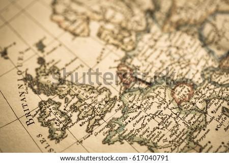 Antique world map england france stock photo edit now 617040791 antique world map england and france gumiabroncs Choice Image