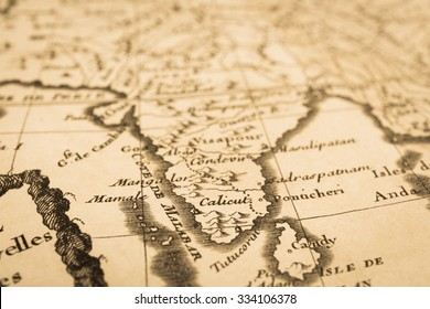 World Map Indai Stock Photos Vintage Images Shutterstock