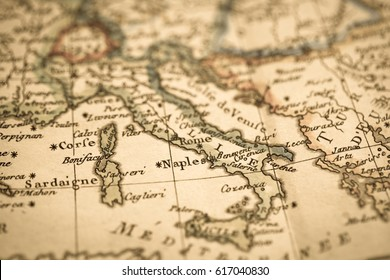 Antique world map Italy