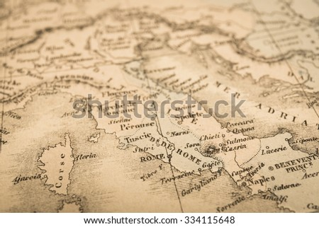 Antique World Map Rome Italy Stock Photo Edit Now 334115648