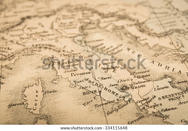 Antique World Map Rome Italy Stock Photo (Edit Now) 334115648