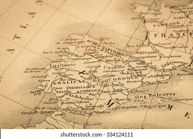 Antique world map persian gulf stock photo royalty free 334127387 antique world map spain and portugal gumiabroncs Images