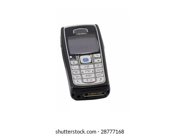 Antiques,   old cellular(mobile)  phone. Isolated on white.
