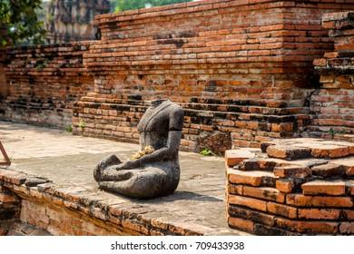 Antiques in Thailand Buddha statue