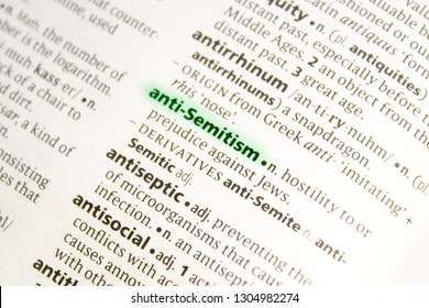 Anti-semitism word or phrase in a dictionary.