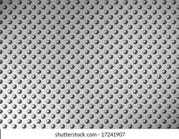 antislip brushed metal surface with spikes