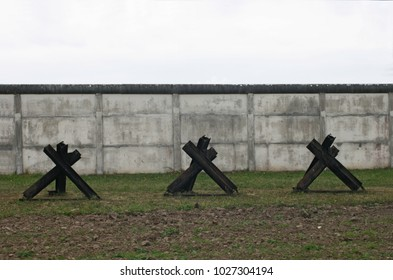 Antitank barriers at inner german border