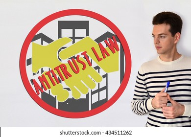 Anti-trust Law. Concepte on white background