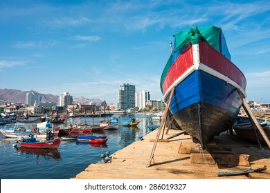 ANTOFAGASTA CHILE - CIRCA APRIL 2015: City and port of Antofagasta returns to normal after the flood - in the Atacama Region of Chile