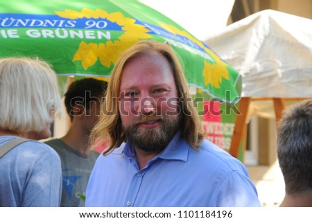 Anton Hofreiter, Member of Parliament, Group Chairman of Bündnis 90 / Die Grünen at a community meeting on 29.08.2017 in Haltern am See, NRW, Germany