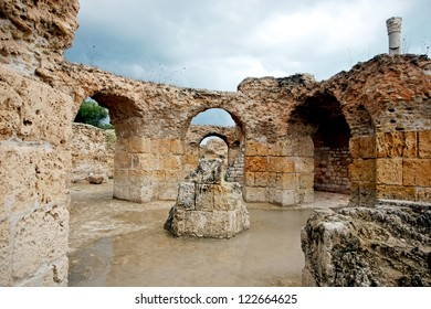Antonine Baths Carthage. Passageways at the Antonine Baths, a UNESCO World Heritage Site at Carthage, Tunisia