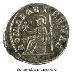 Antoninianus. Ancient Roman silver coin of Philip I. Reverse.