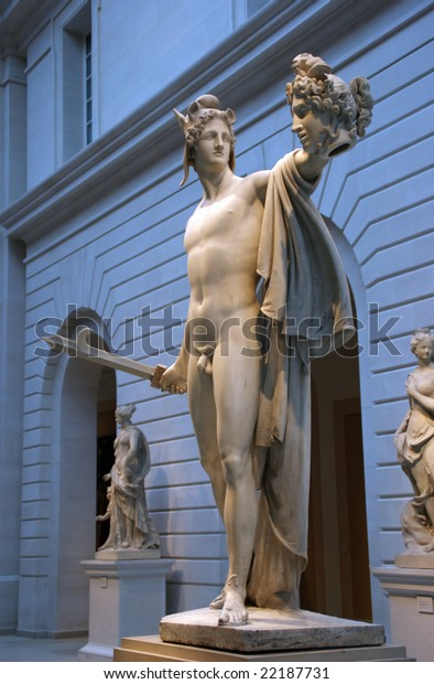 Antonio Canova Perseus Head Medusa 19th Stock Photo Edit