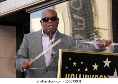 "Antonio M. ""L.A."" Reid at the Kenny ""Babyface"" Edmonds Honored Star on the Hollywood Walk Of Fame, Hollywood, CA 10-10-13"