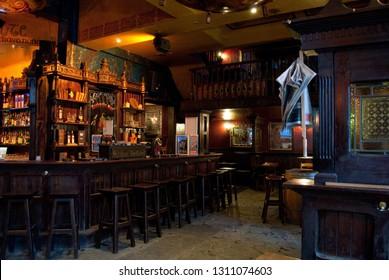 Antwerp - August 2010: Inside an Irish Pub on Groenplaats
