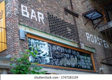 Antwerp / Belgium - 06.02.2020: Racine, a coffee bar and roastery in PAKT, a hotspot of creative enterprises.