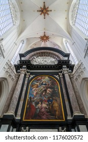 Antwerp. Belgium. 08.21.17. The Assumption of the Virgin by Rubens in the  Cathedral of Our Lady in Antwerp, Belgium. Rubens painted this altarpiece in 1625 -1626.