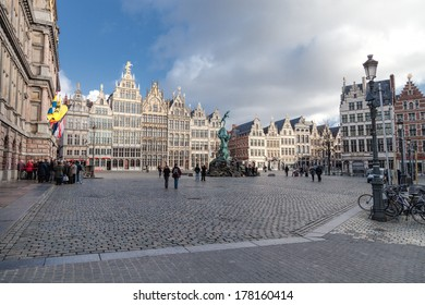 ANTWERP, BELGIUM - 15th of February 2014:  Old town in ANTWERP, BELGIUM on 15th of February 2014